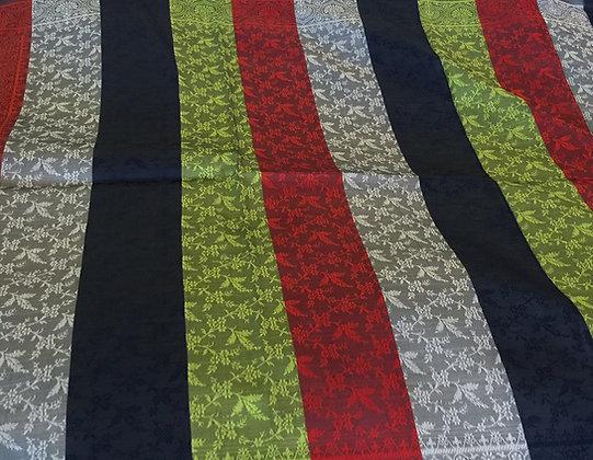 Silk stole - multi color stripes