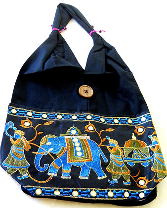 Shoulder bag - Elephant embroidery