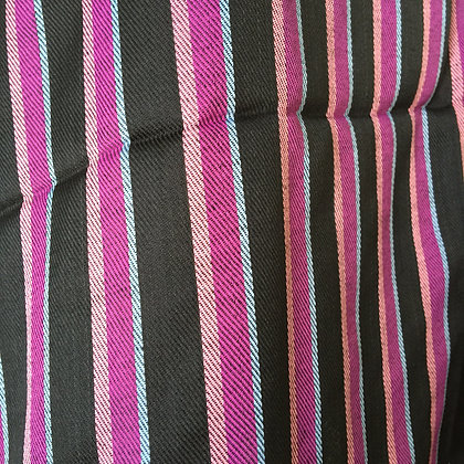 Silk stole - Purple and black stripes
