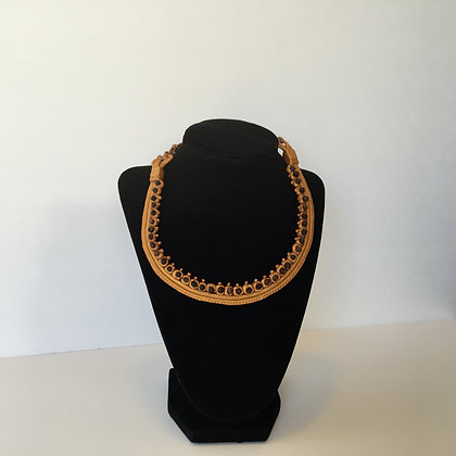 peppered gold necklace