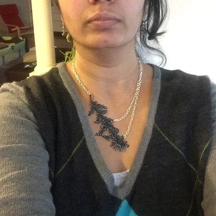 Faux black coral Clay necklace