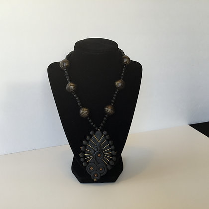 Hand made jewelry - Peacock bead necklace