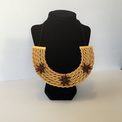 Ochre necklace with Anise star accents