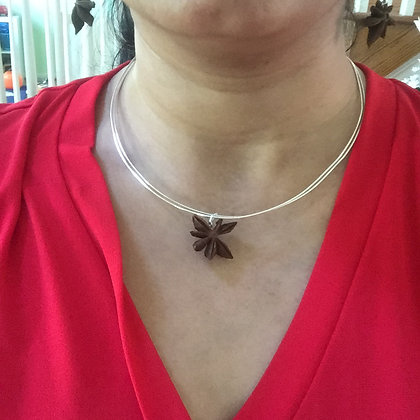 Sterling silver Star Anise necklace