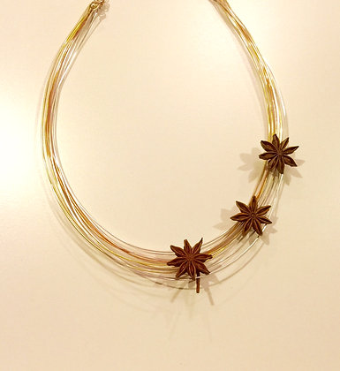 Star Anise Statement Necklace