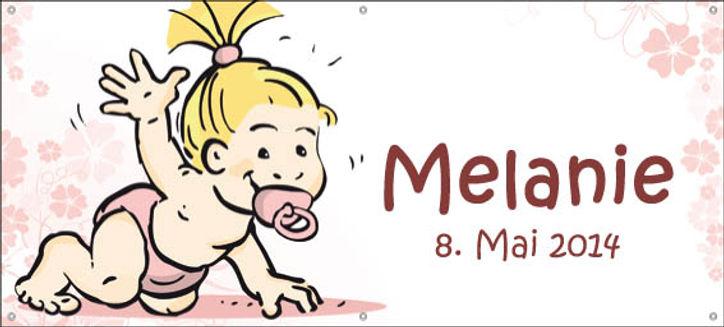 Geburtsblache Geburtsanzeige Kinderblache Geburt Anzeige Plane Beschriftung Digitaldruck