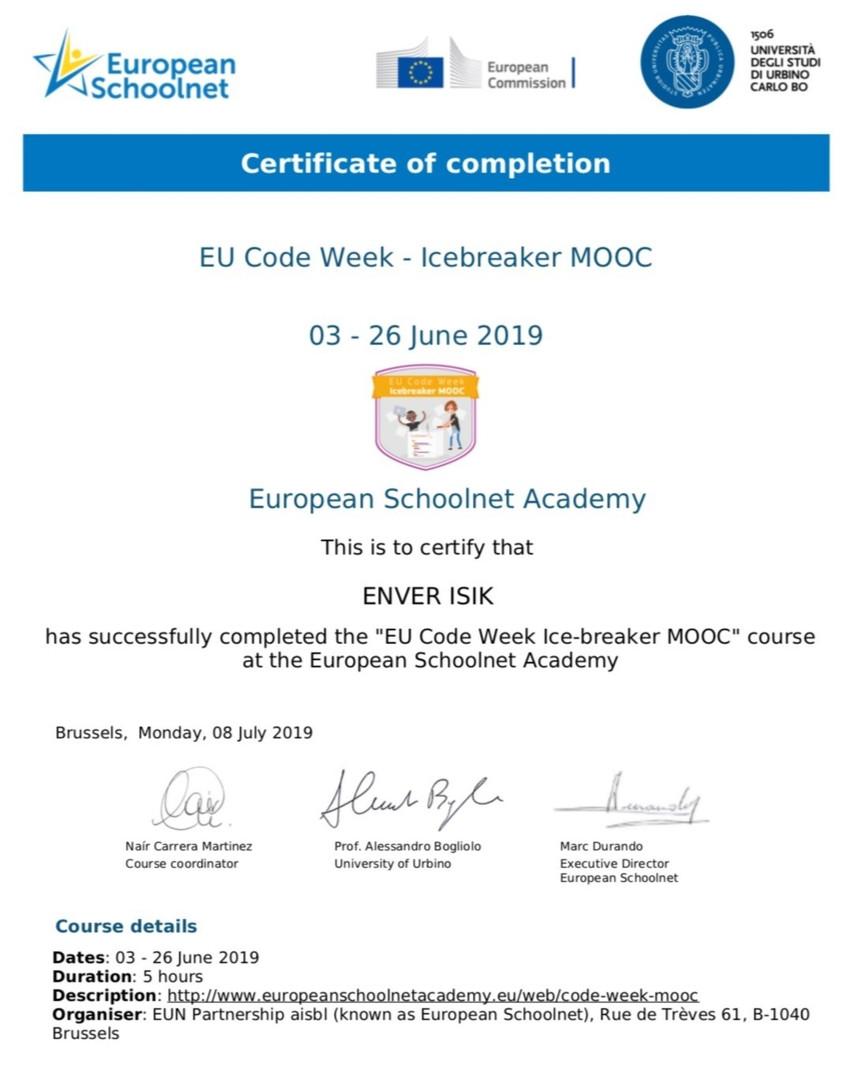 EU Code Week - Icebreaker MOOC
