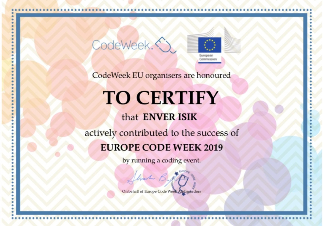 EUROPE CODE WEEK 2019