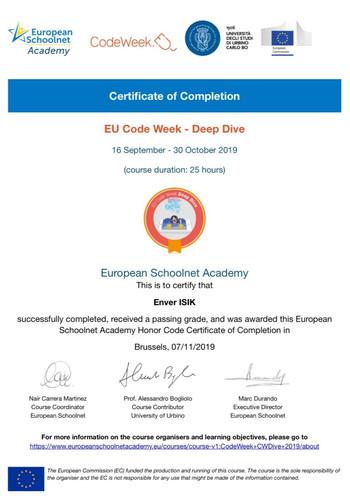 EU Code Week - Deep Dive