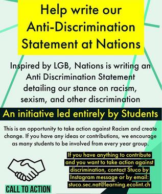 Help Write Anti-Discrimination Statement at Nations