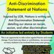 Help Write Anti-Discrimination Statement at Nations