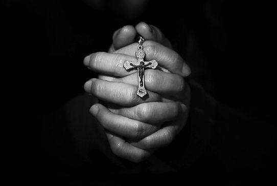 Prayer Hands B+W Free MorgueFile sorrow