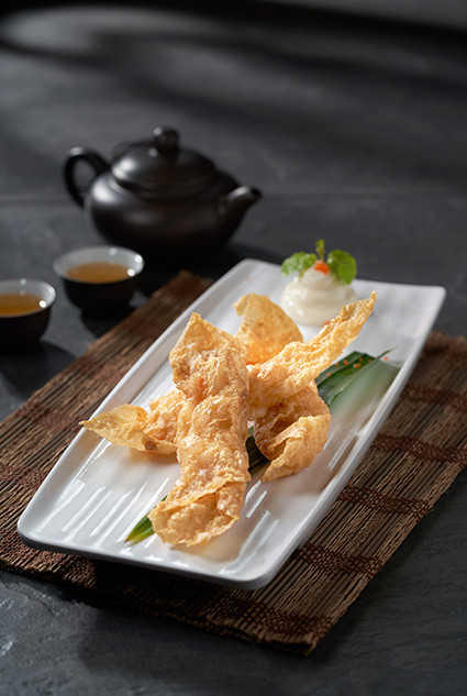 Crispy Prawn Roll Wrapped with Dried Beancurd Skin