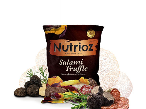 NUTRIOZ Mixed Root Chips - Salami Truffle Flavor (50g.)