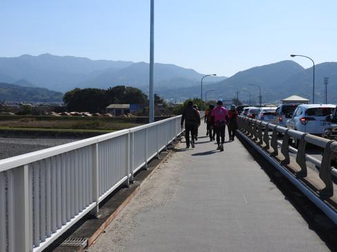 第一回愛媛チャリティ100km歩くぞなもし 重信川