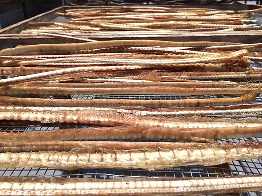 Shark cartilage dog snack sun-dried at Yura Port on Awaji Island