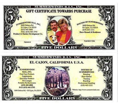 SummerWinds Gift Certificates