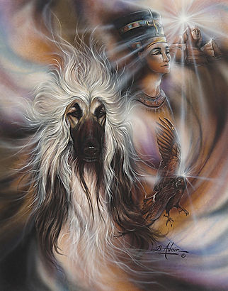 Afghan Hound Paintng