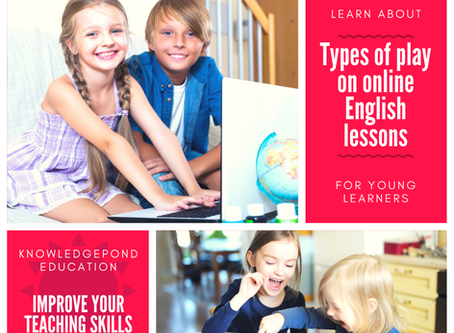 Types of plays on an online English lesson with children