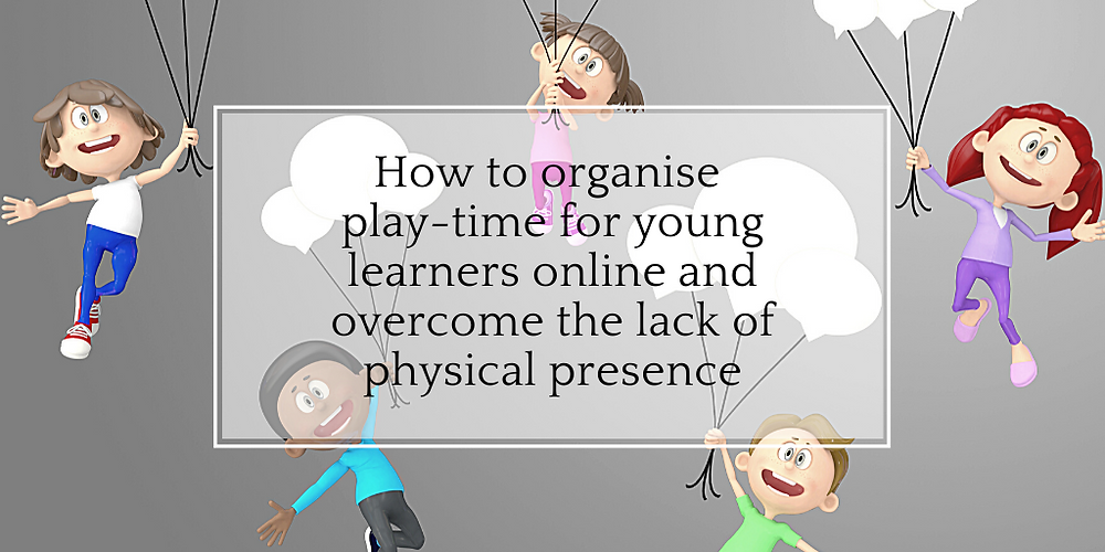 Games to play during an online English lesson with children.