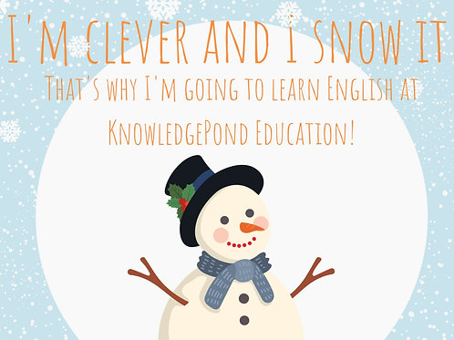 Individual English Lessons    20 + 10 FREE Winter Special