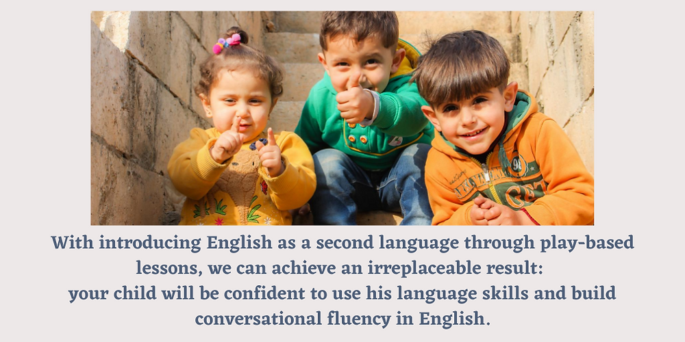 Play-based English lessons are the best for children
