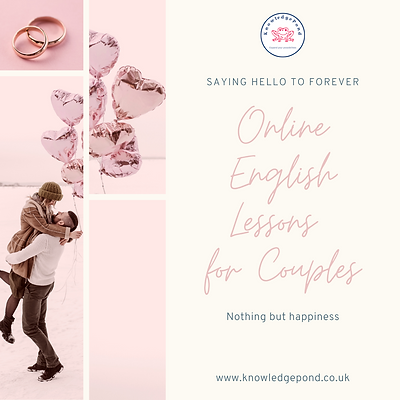 English Lessons for Couples - 12 Sessions Bundle