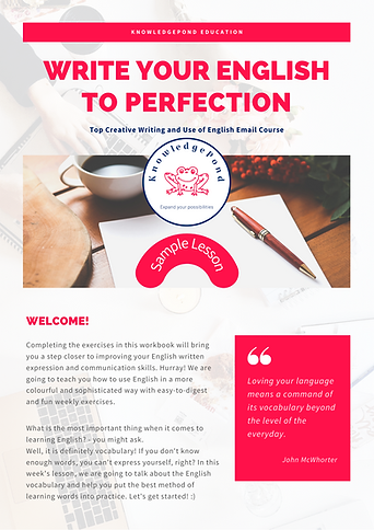 Write your English to Perfection - Lesso