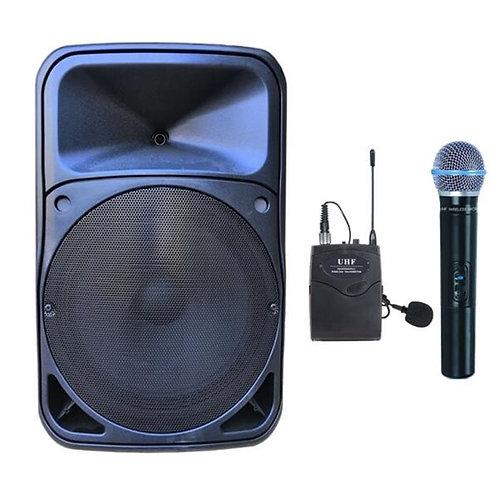 Gold Audio Pro 5412EY Taşınabilir Ses Sistemi EL Yaka Mikrofonlu