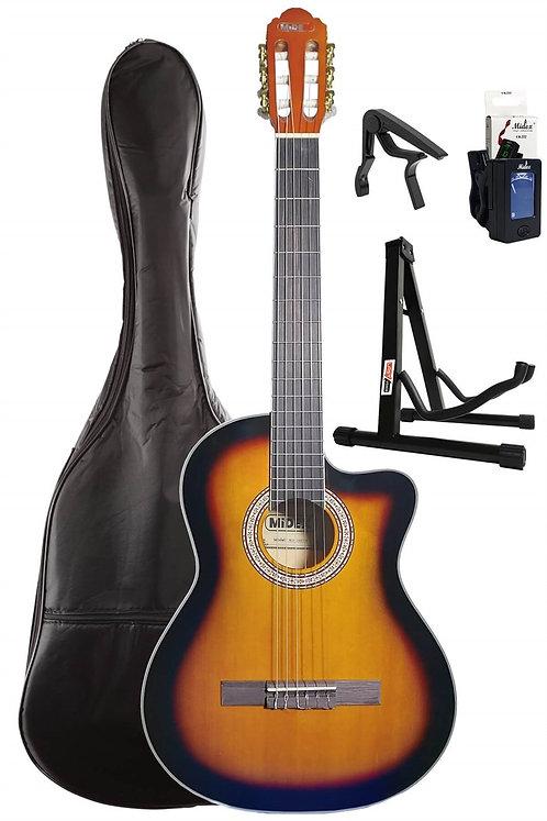Midex MGX-100CSB SET Üst Seviye Klasik Gitar 4/4 Sap Ayarlı (Kılıf Stand Tuner C