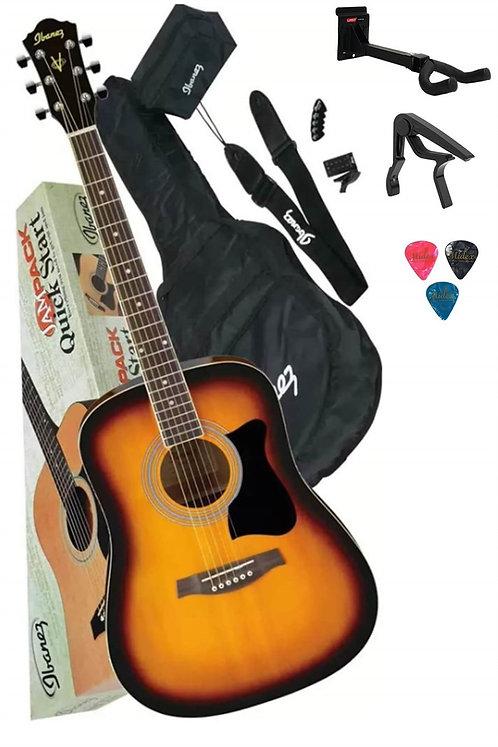 İbanez V50NJP-VS Akustik Gitar Seti (Capo Stand Tuner Kılıf Askı Pena)