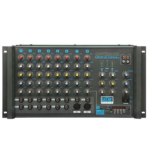 Limit Audio Optimum 500 Anfi 2x250 Watt Usb, Ekho ve Reverbli Usb'li
