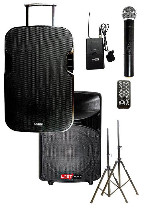 Hepa Merz HS-1000B Set Taşınabilir Ses Sistemi 1000W + 800W 2'li Set
