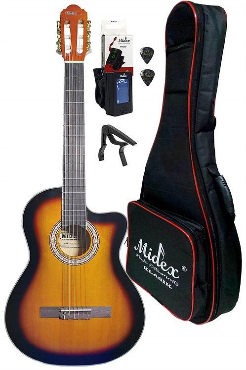 Midex MGX-100XSB CS Üst Segment Klasik Gitar 4/4 Sap Ayarlı (Softcase