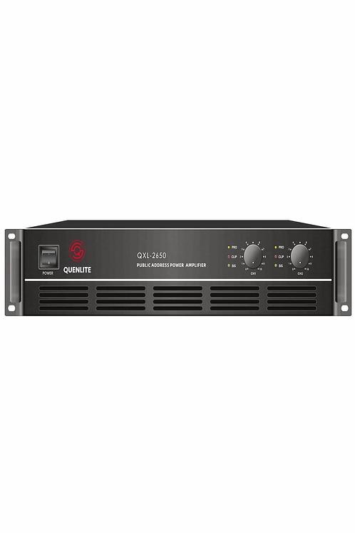 Quenlite QXL-2650 Stereo Power Anfi 2x650 Watt Hat Trafolu 100V/8 Ohm