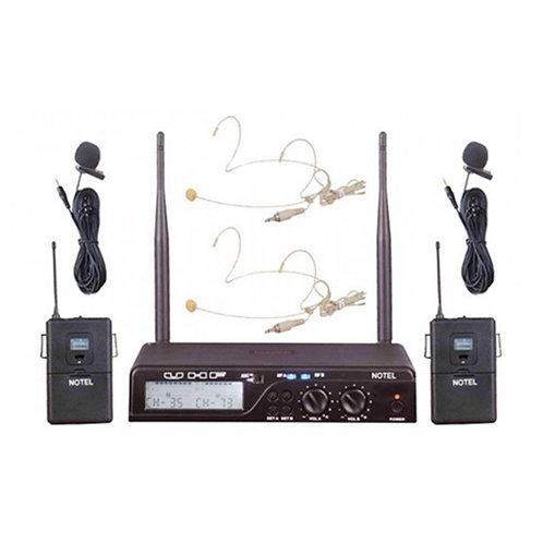 Notel Not 800YY Yaka Tipi Çiftli Telsiz Kablosuz Mikrofon