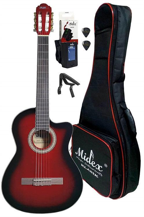 Midex MGX-100XRD CS Üst Segment Klasik Gitar 4/4 Sap Ayarlı (Softcase