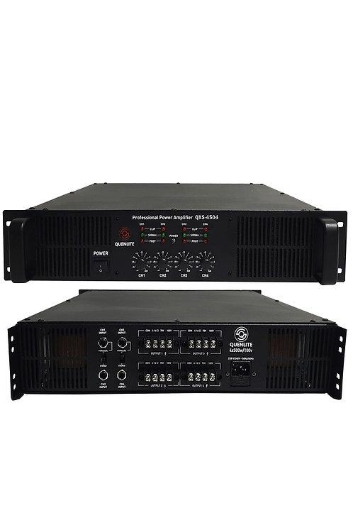 Quenlite QXS-4504 4 Çıkışlı Hat Trafolu Power Güç Anfisi 2000 Watt (4x500W)