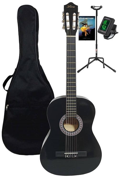 Midex Lea CG-39BK Set Klasik Gitar 4/4 (Kılıf+Tuner+Stand+Metod+Pena)