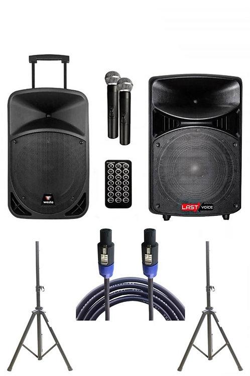 Westa Wap - 22502A - Set Taşınabilir Ses Sistemi 400W + 600W 2'li Set