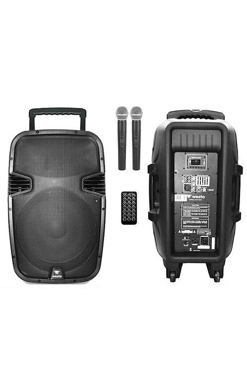 Westa Wap-15502T - Seyyar Portatif Taşınabilir Ses Sistemi EL+EL