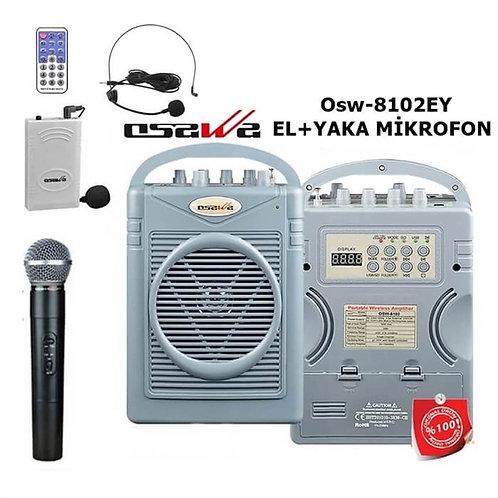 Osawa Osw-8102EY Seyyar Mevlüt Anfisi EL+Yaka Mikrofonlu