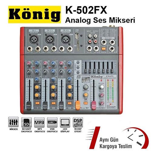 König K-502Fx Stüdyo Usb Deck Mikser