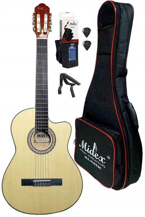 Midex Mgx-100xnt Cs Üst Segment Klasik Gitar 4/4 Sap Ayarlı (softcase Capo Tuner