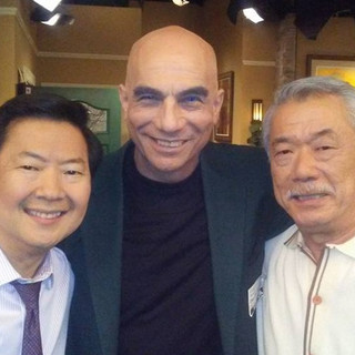 Sony studios set with star cast Dr. Ken and Dana Lee