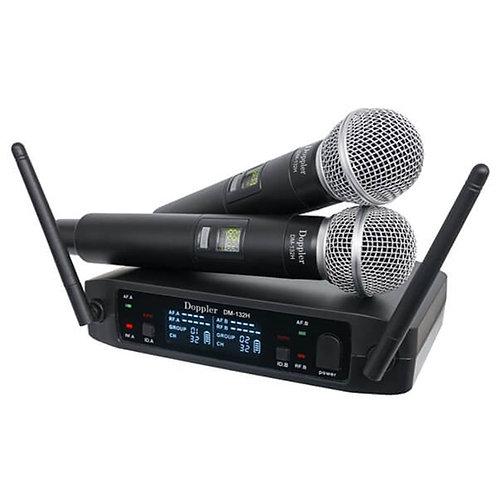Doppler Dm132h Çiftli EL Tipi Telsiz Kablosuz Mikrofon