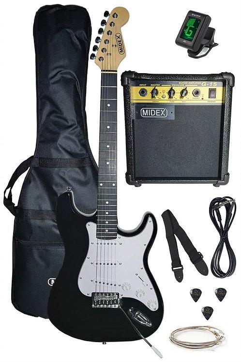 Midex PH550-AMP Set Elektro Gitar ( Amfi, Askı, Tuner, KabloTel )