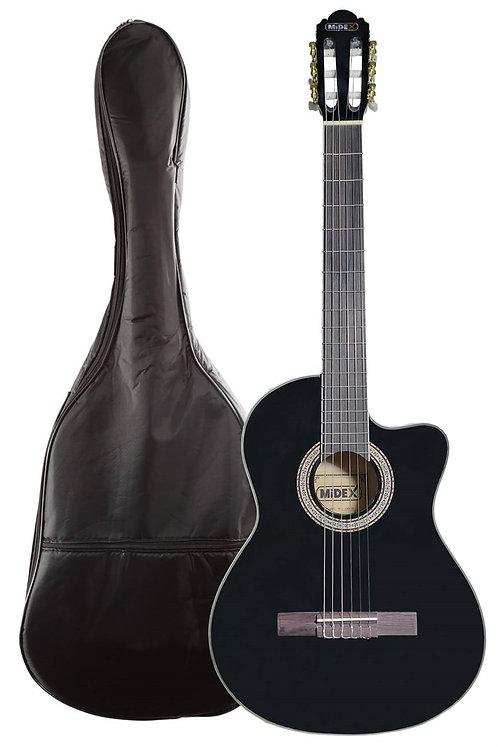Midex MGX-100CBK Üst Seviye Klasik Gitar 4/4 Sap Ayarlı Gül Klavye