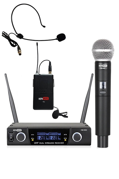 Hepa Merz HM-6002EH UHF Telsiz Kablosuz EL Kafa Mikrofonu