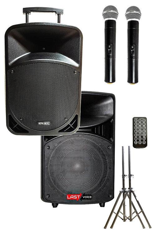 Hepa Merz HS-800A Set Taşınabilir Ses Sistemi 800W + 600W 2'li Set